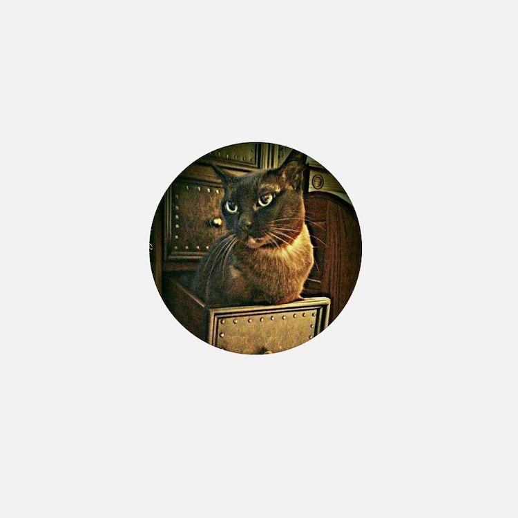 Kiwi the Burmese Cat Mini Button