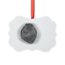 Smaller Heart Glass Effect Ornament