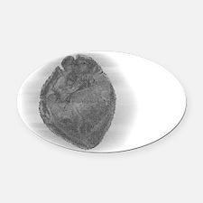 Smaller Heart Glass Effect Oval Car Magnet