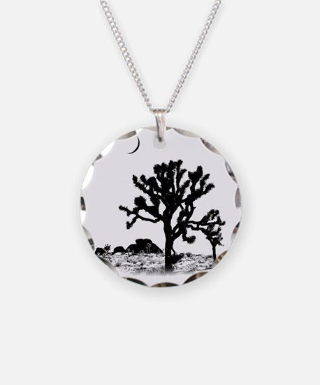 Joshua Tree National Park Necklace Circle Charm