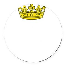 Queen Everything Round Car Magnet