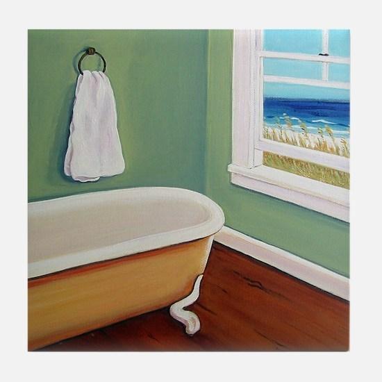 Window Sea Bath Tub Tile Coaster
