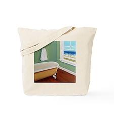 Window Sea Bath Tub Tote Bag