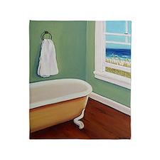 Window Sea Bath Tub Throw Blanket