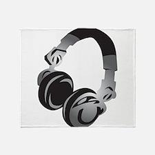 Headphones Throw Blanket