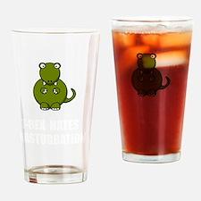 T Rex Masturbation Drinking Glass
