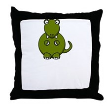 T Rex Masturbation Throw Pillow