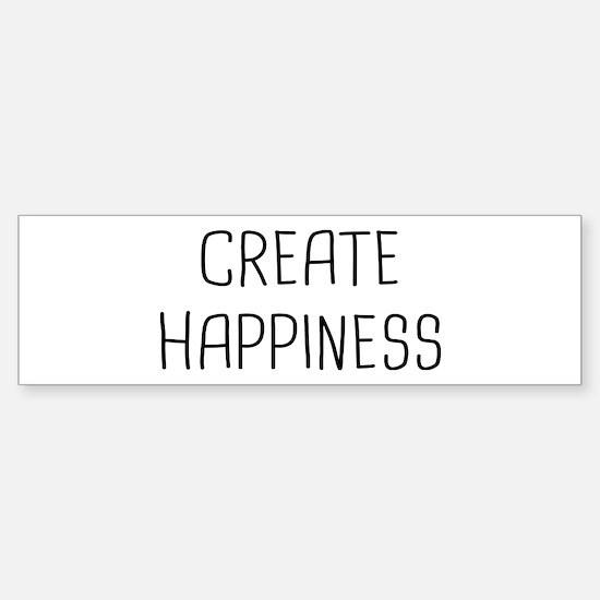 Create Happiness Sticker (Bumper)