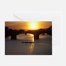 Florence Italy Sunset Greeting Card