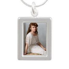 5 Silver Portrait Necklace