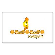 Gold Kokopelli Rectangle Decal