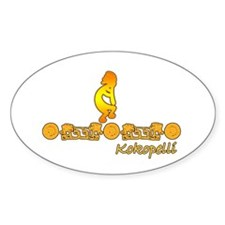 Gold Kokopelli Oval Decal