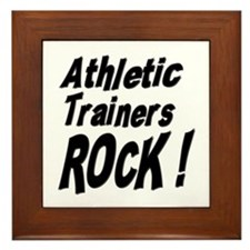 Athletic Trainers Rock ! Framed Tile