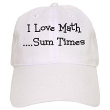 I Love Math Sum Times Baseball Cap