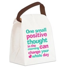 Positive Thought Canvas Lunch Bag