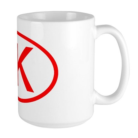 JK Oval (Red) Large Mug
