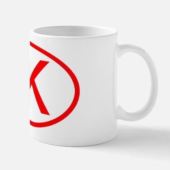 JK Oval (Red) Mug