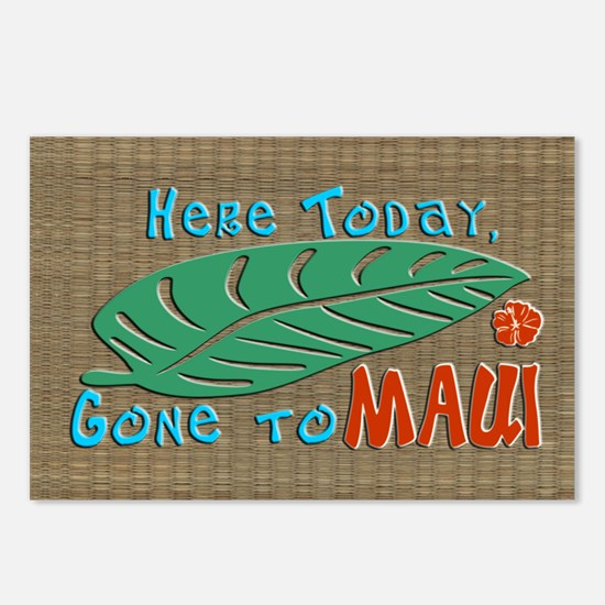 Here Today Gone to Maui Postcards (Package of 8)