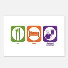 Eat Sleep Diet and Nutrition Postcards (Package of