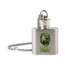 How to kill a zombie Flask Necklace