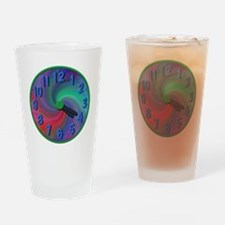 Abstract spiral 4:20 clock, gifts Drinking Glass