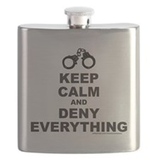 KEEP CALM AND DENY EVERYTHING T-SHIRTS AND G Flask