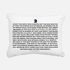Man in the Arena Rectangular Canvas Pillow