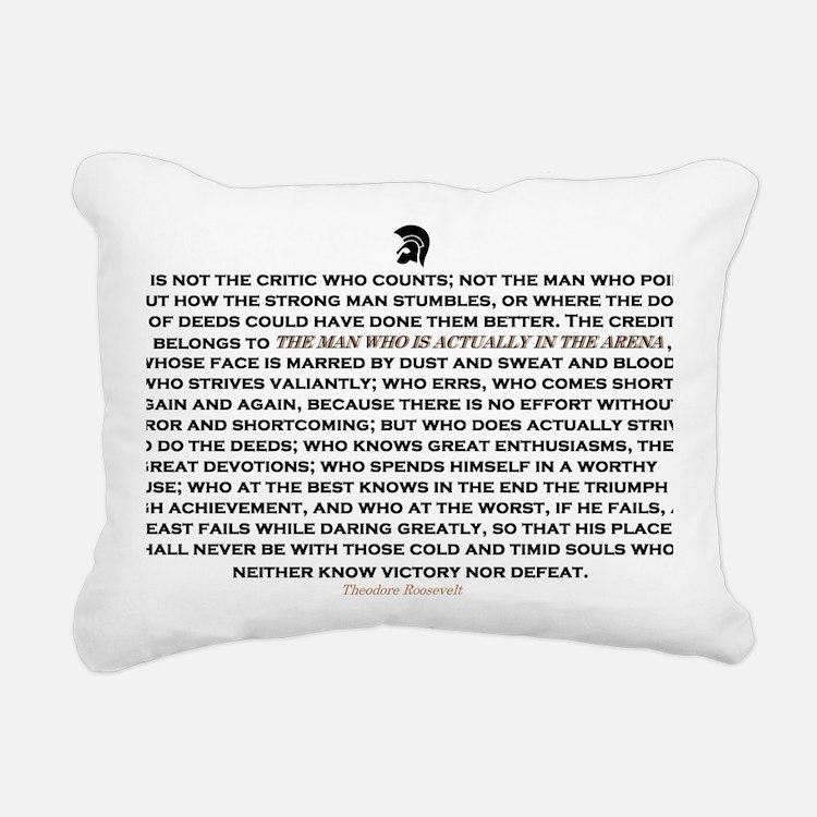 Man in the Arena Rectangular Canvas Pillow