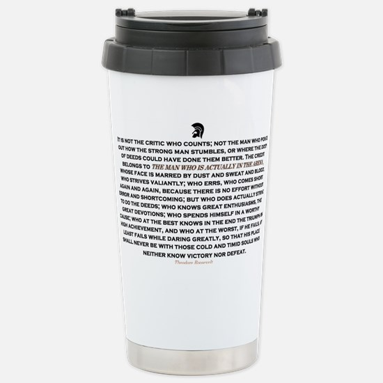 Man in the Arena Stainless Steel Travel Mug