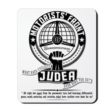 Motorists Front of Judea black Mousepad