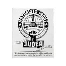 Motorists Front of Judea black Throw Blanket