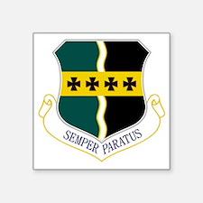 """9th RW - Semper Paratus Square Sticker 3"""" x 3"""""""