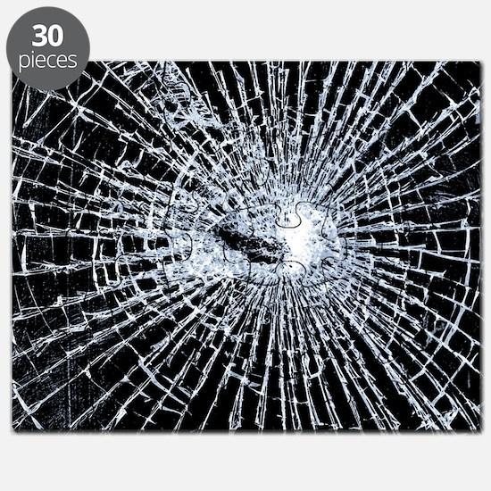 Broken Glass 2 Black Puzzle