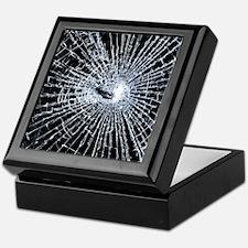 Broken Glass 2 Black Keepsake Box