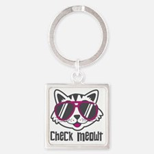 Check Meowt Square Keychain