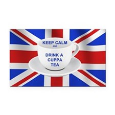 Keep Calm and Drink a Cuppa T Rectangle Car Magnet