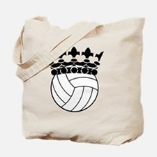 King of Volleyball Court Tote Bag