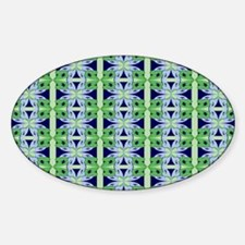 Abstract Floral Tile Sticker (Oval)
