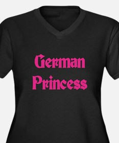 German Princess Women's Plus Size V-Neck Dark T-Sh