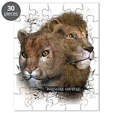 Wild Lion Cheeta Animal Heads HCC Puzzle