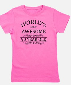 MOST AWESOME BIRTHDAY 90 Girl's Tee