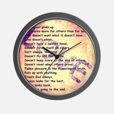 Message of Love Wall Clock