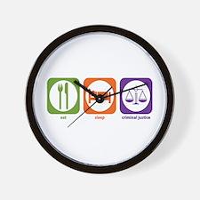 Eat Sleep Criminal Justice Wall Clock