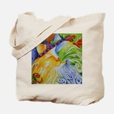Fuzzy Abstract Cat Tote Bag