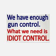 We have enough gun control Rectangle Magnet