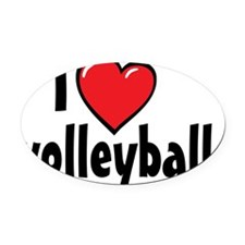 I Heart Volleyball Oval Car Magnet