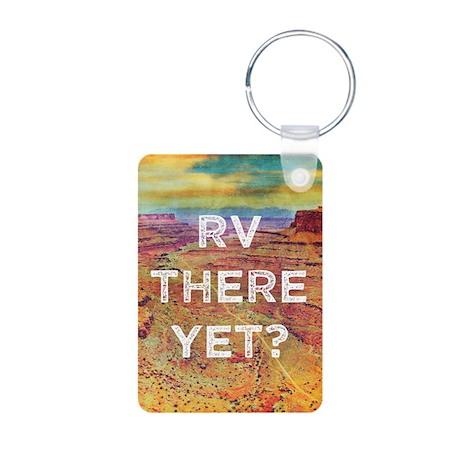RV There Yet Aluminum Photo Keychain