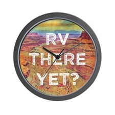 RV There Yet Wall Clock