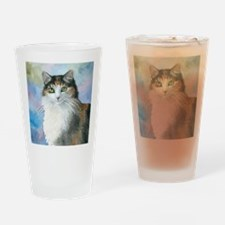 Cat 572 Calico Drinking Glass