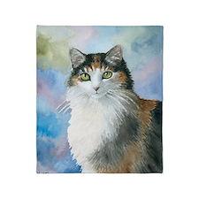 Cat 572 Calico Throw Blanket